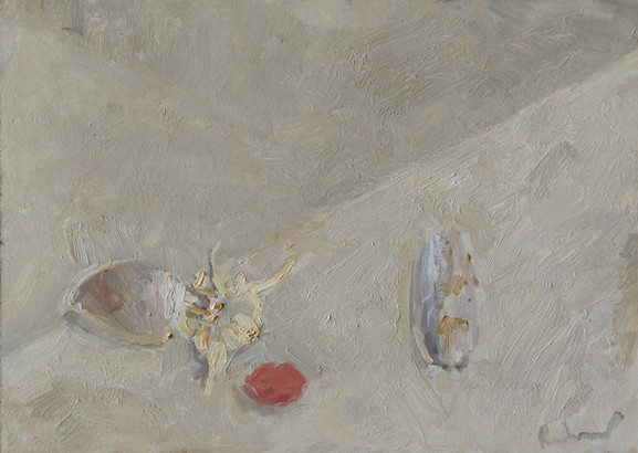 White Still Life with Sea Shells
