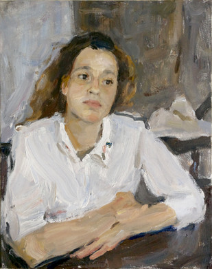 Portrait of Sona in a white Shirt