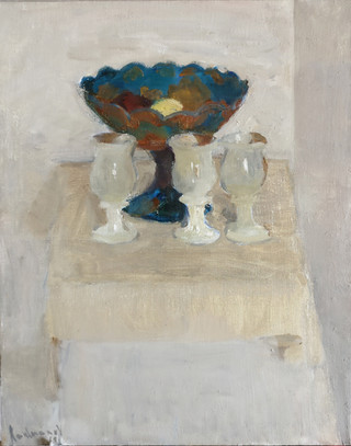 White composition with a Vase