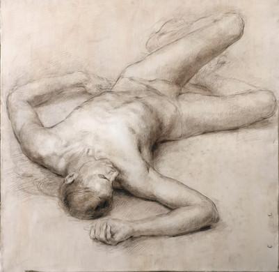 Lying Nude Male Figure study