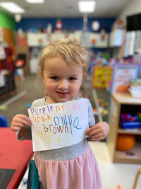 Writing color words