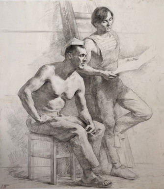 Two Male Figure Study
