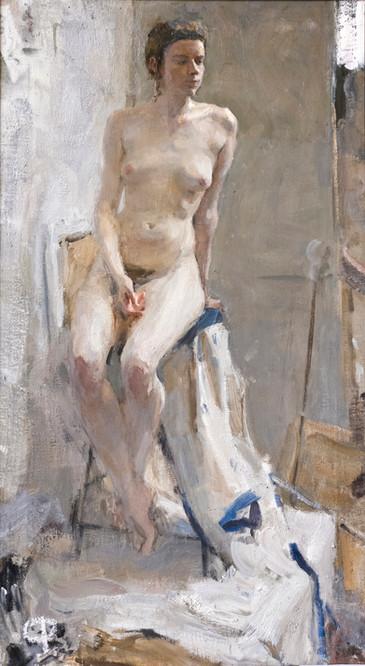 Nude Figure in Contre Jour