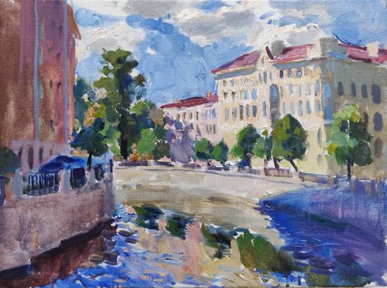 Griboyedov Channel. Saint-Petersburg
