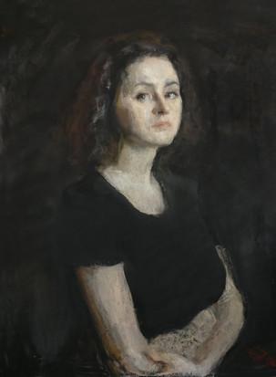 Portrait of Barbara on black