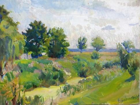"""Small River """"Gnyozdka"""". Sunny Day"""