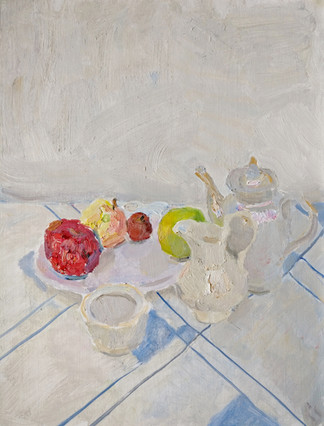 White composition with Apples