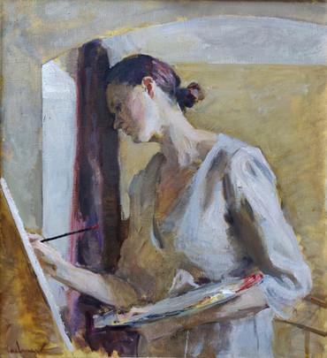 Portrait of a Female Artist