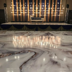 Marble printed dance floor
