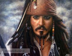 Jack Sparrow | Oil paint