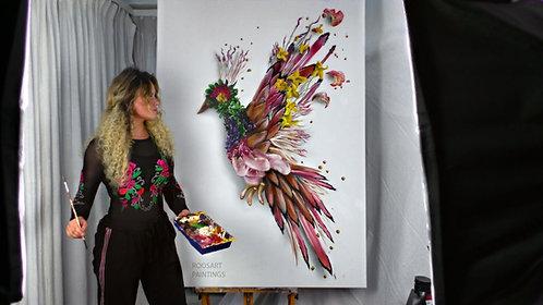 Flower Bird | Original Painting (120 x 160 cm)