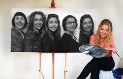 Family portrait | Oil painting