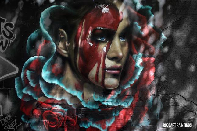 """Mural """"'Pasión'' in Barcelona"""