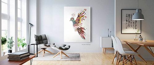 Flower Bird | Aluminium print (90 x 120 cm)