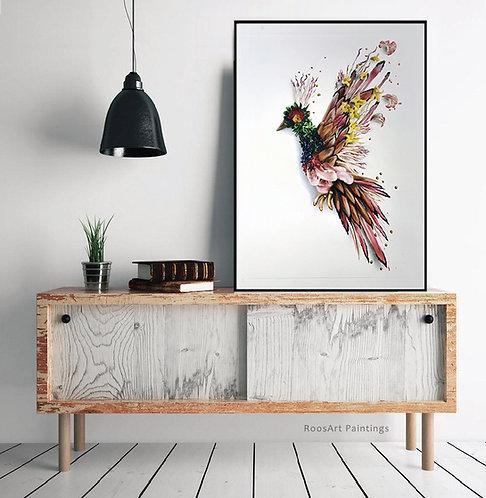 Flower bird  | Giclée Print (50 x 70 cm)