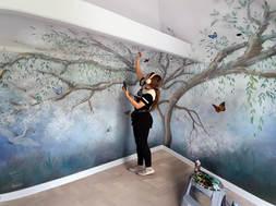 Dreamy Tree Bedroom Mural