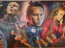 Mural famous DJ's