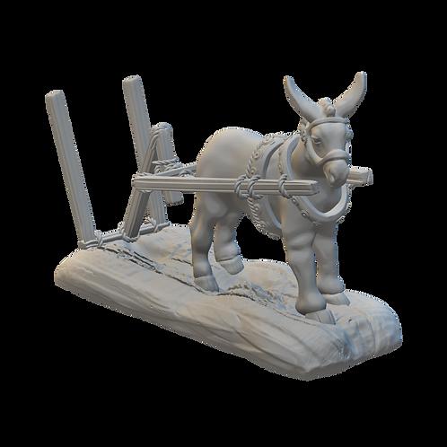 Ploughing Donkey