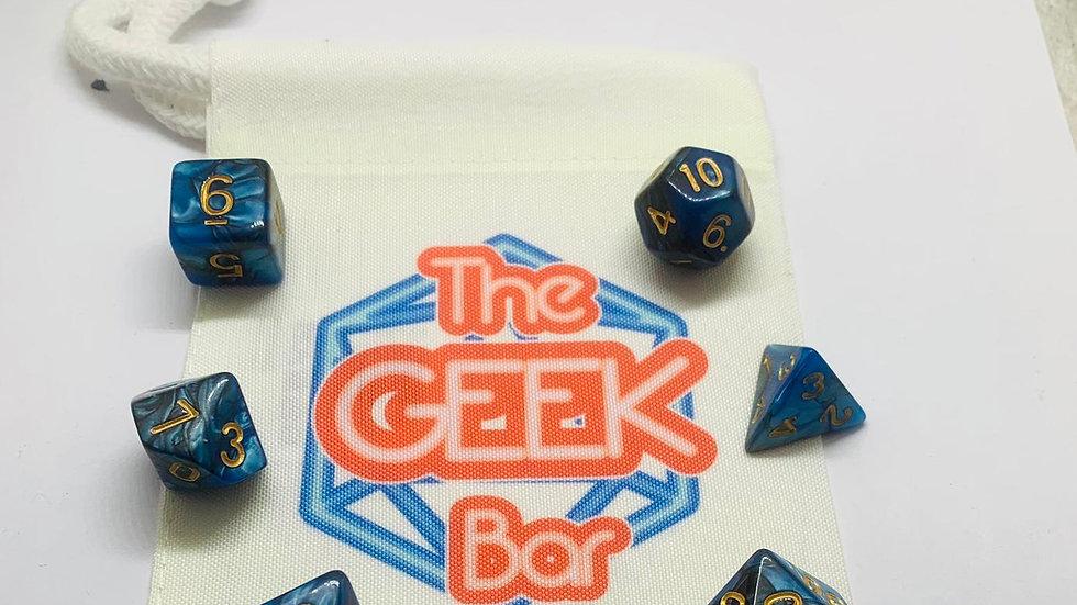 7 Piece Dice Set & Geek Bar Dice Bar