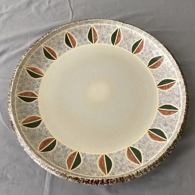彩泥紋大皿