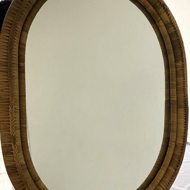 フランス鏡(籐工芸)