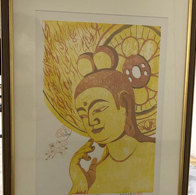 弥勒菩薩(版画)