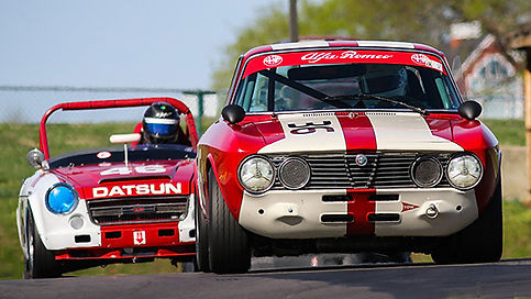 Vintage Racing Medium Bore Alpha, Datsun, Alpha Romeo