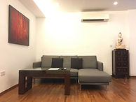 Living room with L-shaped sofa
