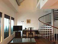 Large loft unit with spiral staircase