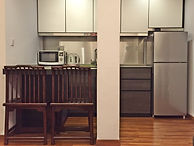 Kitchenette with breakfast table