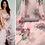 Thumbnail: Floral pink Organza saree