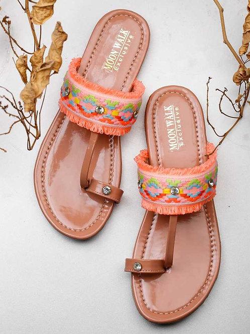 Women Pink One Toe Flats