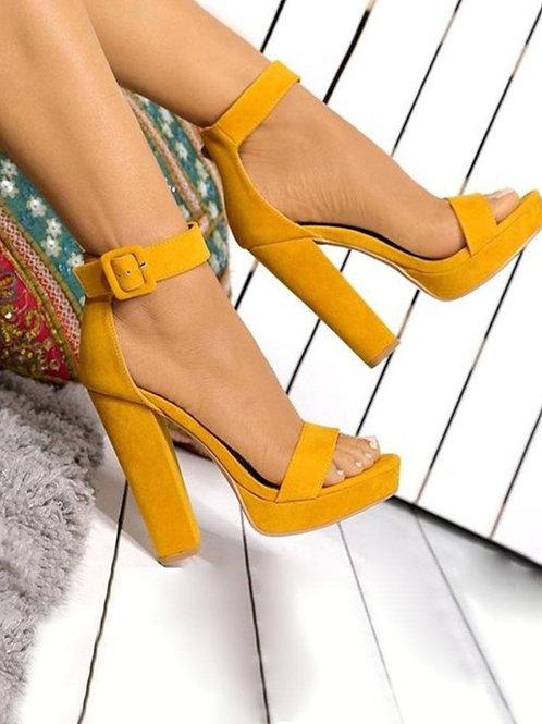 Be Bold Mustard Heels
