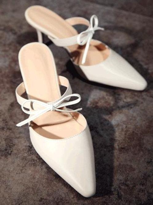 White Beauty Pencil Heels