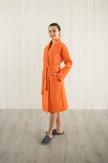 халат вафельный цвет мандарин