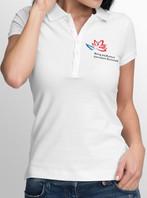 футболка поло с принтом с орнртипом