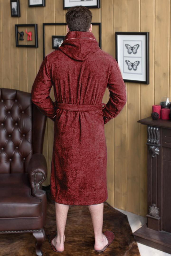 халат мужской капюшон+кант цвет бордо2.j