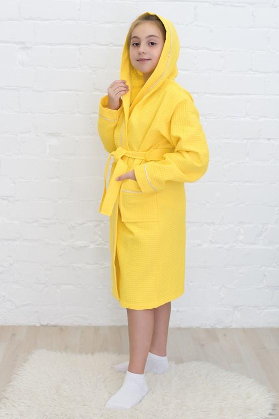вафельный капюшон+кант, цвет лимон