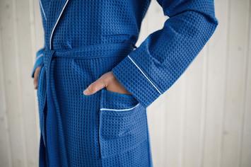 халат вафельный цвет Синий