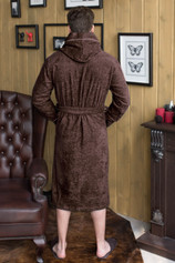 халат мужской капюшон+кант цвет шоколад2