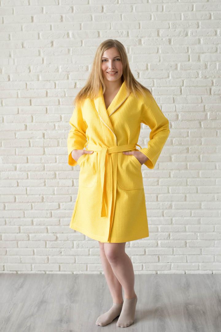 халат вафельный цвет лимон
