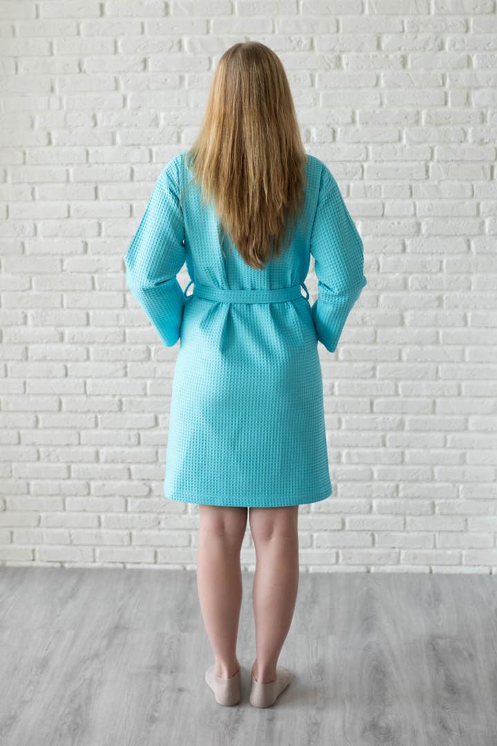халат вафельный цвет бирюза