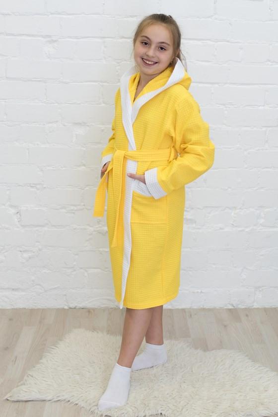 вафельный капюшон+комби, цвет лимон