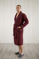 халат вафельный цвет Бордо