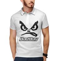 футболка поло с принтом