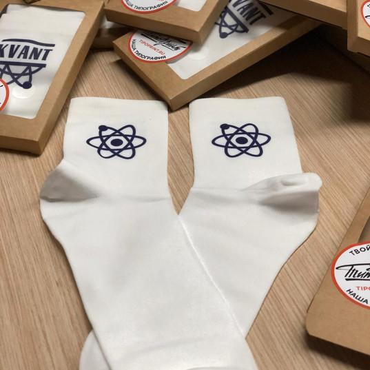 Носки с печатью