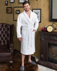 Белый махровый халат