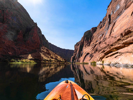 Alone in the river by Horseshoe Bend