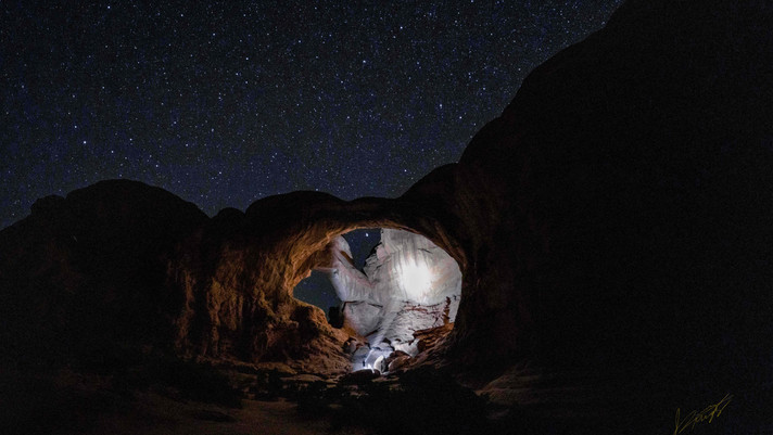 Starry Night Sky at Arches National Park, Utah