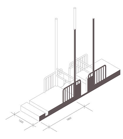 Diagram of tie stall used in british dairy farms